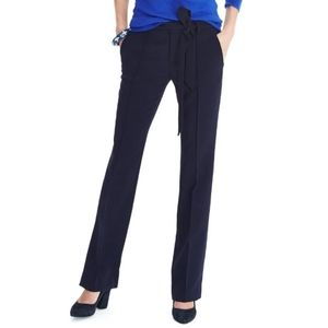 NWT Banana Republic BLK Logan Tie Waist Trousers 2